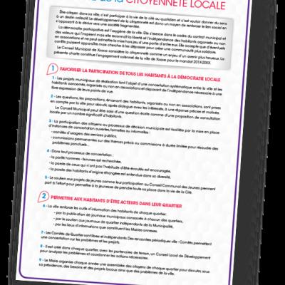 La Charte de la Citoyenneté Locale